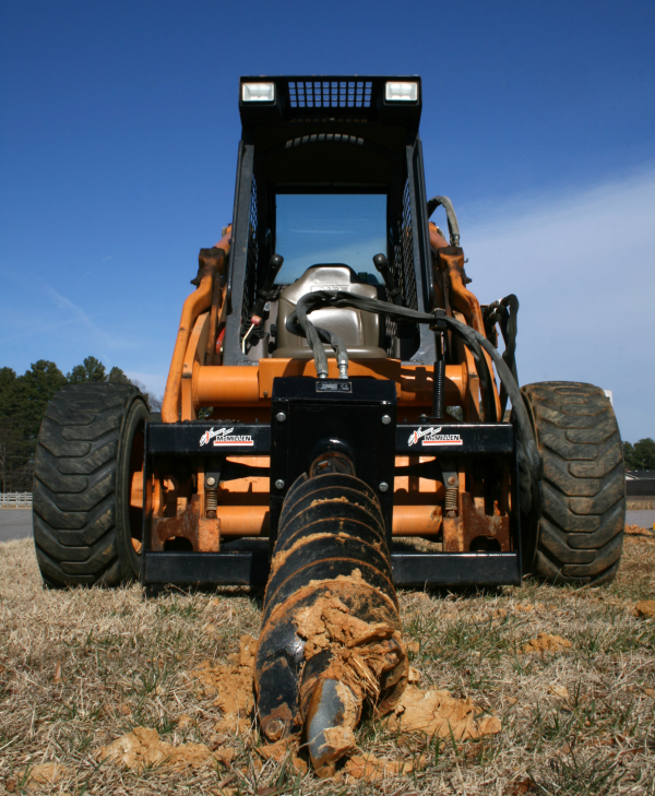 skid steer with extreme duty auger